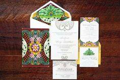 Convite para casamento indiano