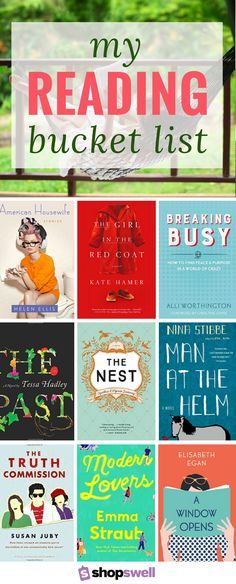 Someday I will get through all the books on my reading list. Click-through to see what's on my reading bucket list.