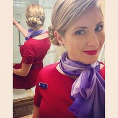 Virgin Australia Stewardess Take-off time ✈️ #lax to #mel direct #losangeles #melbourne #australia #flightattendant #airhostess #stewardess #trolleydolly #flygirl #crewlife #lifeofahostie #yourfavetrolleydolly #lonne #hairstyle #upstyle #redlips #letsfly