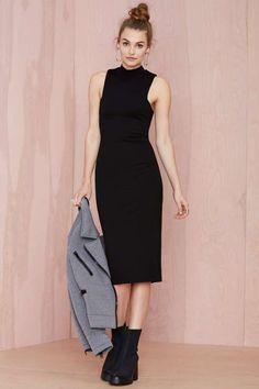 Nasty Gal Mock Off Midi Dress - What's New