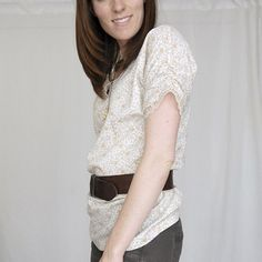 Make a thrift shop XXL blouse into a trim vintage look with a few new seams and some cream lace