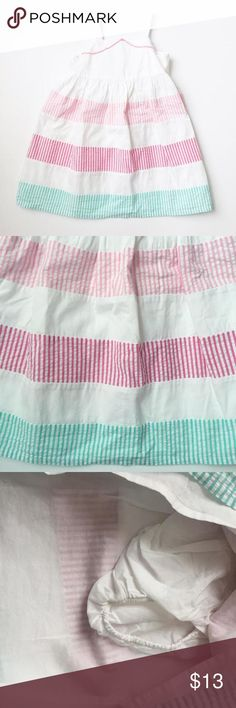 NWT Gymboree gingham dress 100% cotton.  Lined dress with bloomers.  3 button opening on the back. Gymboree Dresses