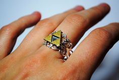 Legend of Zelda Triforce Gold OR Silver, Sterling Silver Plated Filigree - RING -. via Etsy.