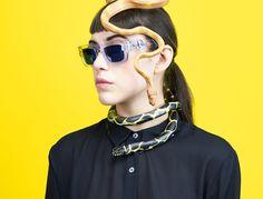 Leta Sobierajski x Kaibosh Marina Abramovic, Eyewear, Round Sunglasses, Portrait, Instagram Posts, Model, Photography, Inspiration, Image