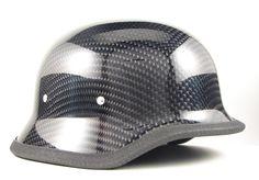 Carbon Fiber German Helmet by Skull Crush