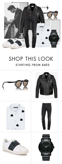 """""""m.e.c for men!"""" by missmeryc ❤ liked on Polyvore featuring Tom Ford, Yves Saint Laurent, Dolce&Gabbana, Dsquared2, Valentino, Movado, men's fashion and menswear"""
