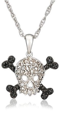 Sterling Silver Black and White Diamond Skull « Holiday Adds