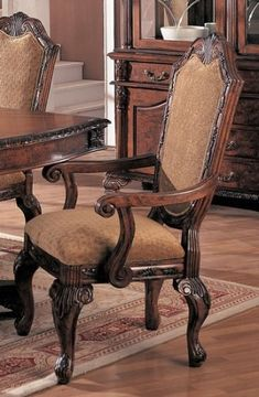 Coaster Saint Charles Dining Arm Chair with Upholstered Seat and Seat Back (Set of 2)