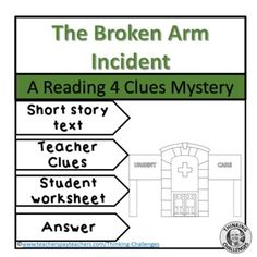 Reading Comprehension Passage : The Broken Arm Incident by Thinking Challenges Reading Comprehension Activities, Student Reading, Sixth Grade, Tell The Truth, Upper Elementary, Critical Thinking, Short Stories, Middle School, Texts