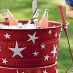 DIY 4th of July crafts and decorations. {Cut out star stickers can be used on tons of things.}