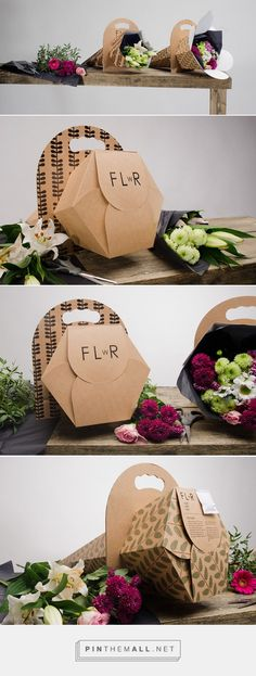 of flower packaging - Miscellaneous The future of flower packaging by Linn Karlsson.The future of flower packaging by Linn Karlsson. Flower Packaging, Cool Packaging, Food Packaging Design, Paper Packaging, Packaging Design Inspiration, Gift Packaging, How To Wrap Flowers, Fresh Flowers, Flower Boxes