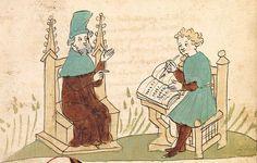"""Rudolf <von Ems> Willehalm von Orlens — Straßburg - """"Werkstatt von 1418"""", um 1420 Cod. Pal. germ. 323 Folio 3r"""