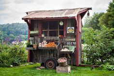 The cutest farmstand ever.