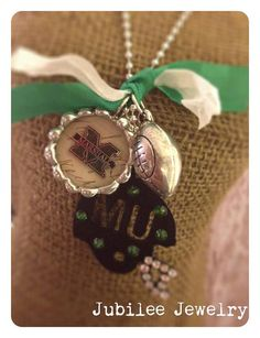 Marshall University Soldered Necklace by jubileejewelry1 on Etsy, $36.00