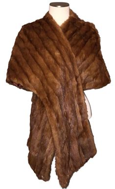 Brown Mink Stole Wrap Cape Poncho Coat Size OS (one size) Mink Stole, Poncho Coat, Fur Wrap, Vintage Fur, Mink Fur, Cape, Luxury Fashion, Business Professional, Absolutely Gorgeous