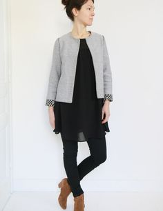 Patron veste femme Claudie - du 34 au 48 - couture - Patrons de couture chez Makerist