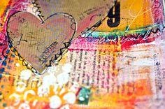 Scrap Art Zine - Der Blog zum Magazin: Mittwochsinspiration #7 - Art Journaling / Mixed Media Video Anleitung