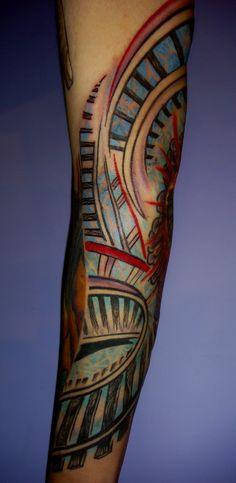 Fractal Tattoos | Colorful Fractal Tattoo Art | Majestic Tattoo NYC
