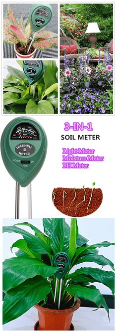Soil pH 3-in-1 Soil Moisture Meter Amazon Home Decor, Soil Ph, Gardening Gloves, Lawn, How To Look Better, Floral Design, Moisturizer, Green, Plants