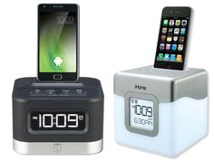 """Jack - Doesn't have to be this one.  He wants a clock in his room I want to be able to play his """"pops"""" (classical) music in his room without CD's. Use the phone you sent me for him.  iPhone docking station"""