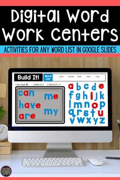 Need digital word work activities for your class? Use this Google Slides set over and over with any word list! Just type in your words! Your kids will love them! Perfect for distance learning or your elementary classroom! Manipulatives without the clean up! Word Work Games, Word Work Centers, Word Work Activities, Spelling Activities, Activity Centers, Literacy Centers, Digital Word, Teaching Second Grade, 2nd Grade Classroom
