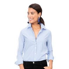 The Exclusive Blue Stripe Essential Icon Shirt
