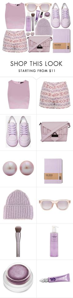 """""""Monochromatic: Muave"""" by cglovestea ❤ liked on Polyvore featuring Rebson, Millie Mackintosh, Shellys, Nila Anthony, Acne Studios, Linda Farrow, Urban Decay, Fashion Forms, rms beauty and OPI"""