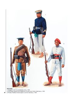 Colonial Art, French Colonial, Army Uniform, Military Uniforms, First Indochina War, Army History, Osprey Publishing, Boxer Rebellion, French Foreign Legion