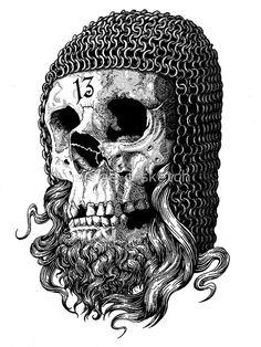 Templar Skull by Matthew Sergison-Main.