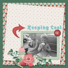 https://flic.kr/p/22uasam | ScrapbookCrazy Creations by Robyn - Ice Cream Social | Here's a layout using the Ice Cream Social Collection by Scrapbookcrazy Creations by Robyn.  This is available at Go DIgital Scrapbooking or at My Memories.