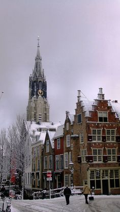 Delft is a city and a municipality in the Netherlands. It is located in the province of South Holland, to the north of Rotterdam and south of The Hague. Those winter days Delft, Kingdom Of The Netherlands, Holland Netherlands, South Holland, Amsterdam Netherlands, Visit Holland, The Places Youll Go, Places To Visit, Leiden