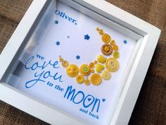 I Love You to the Moon Button Art - The Supermums Craft Fair