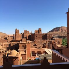 Kasbah in Tamdakht from the very new Kasbah Titrit, Morocco.