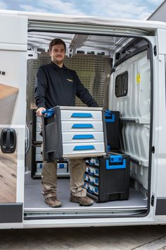 Our WorkMo Mobile Tool Storage modules are perfect for storage and organization. This multi-functional system can be used in various ways, such as in your workshop, garage or on your boat. If you are not looking for a permanently installed van racking system but a multi-functional transport system for tools and supplies, then WorkMo is for you.