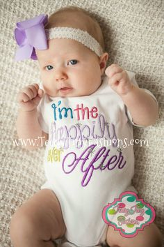 I'm the Happily Ever After Custom ~ Having a Baby ~ Baby Shower Present ~ Little Sister ~ Baby Shirt ~ Coming Home Outfit ~ Princess Shirt