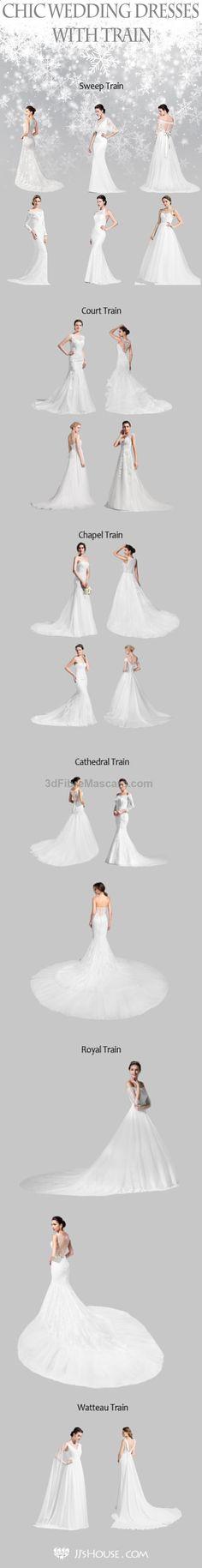 CHIC Wedding Dresses With TRAIN! CHOOSE ONE NOW! #weddingdress