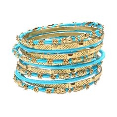 Take a look at this Turquoise Jaana Bangle Set by Amrita Singh on today! Summer Jewelry, I Love Jewelry, Jewelry Box, Jewelery, Jewelry Accessories, Jewelry Ideas, Diy Jewelry, Handmade Jewelry, The Bangles