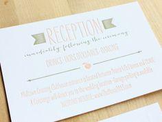 Rachel + Nick's Ombre Letterpress Wedding Invitations