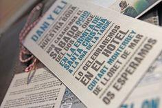 vintage postcard wedding invitation by www.mrwonderful.es