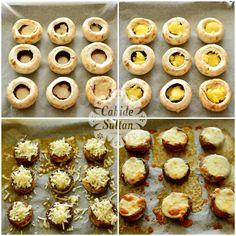 Doughnut, Stuffed Mushrooms, Pasta, Breakfast, Desserts, Foods, Drink, Kitchens, Stuff Mushrooms