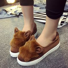 Wholesale women shoes Flats Women Flat heel Shoes Lazy Shoes Soft leather cartoon rabbit ears elastic cloth flat shoes DL1238 #clothing,#shoes,#jewelry,#women,#men,#hats,#watches,#belts,#fashion,#style