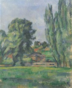 Paul Cézanne, Landscape with Poplars, about 1885-7