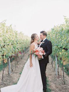 Romantic and Simple Wedding Dress for Intimate Vineyard Wedding Photos Wedding Pics, Wedding Vendors, Wedding Styles, Wedding Dresses, Burgundy Gown, Twist Ponytail, Honey Hair, Elopement Inspiration, Vineyard Wedding