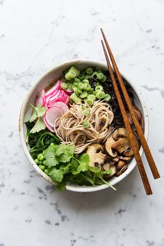 Miso Noodle Bowl with Arame and Spinach