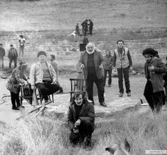 Sergei Parajanov shooting The Legend of the Suram Fortress (1984).