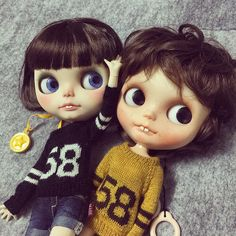 """DD005 """"Number Sweater"""" 12""""Blythe Licca Jerryberry Outfits Clothes 1pcs 