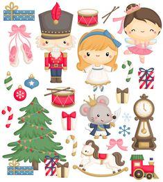 Christmas Card Crafts, Christmas Clipart, Christmas Printables, Christmas Ornaments, Nutcracker Christmas, Christmas Mood, All Things Christmas, Illustration Noel, Christmas Illustration