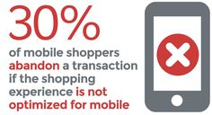 If your online store isn't optimized for mobile, get ready for a lot of rejection. of mobile shoppers abandon a transaction if the shopping experience is not optimized for mobile. Different Programming Languages, Seo Training, Corporate Branding, Seo Services, Project Management, Web Development, Online Marketing, Ecommerce, Web Design