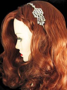 Vintage rhinestone headband by comeuppance on Etsy, £75.00