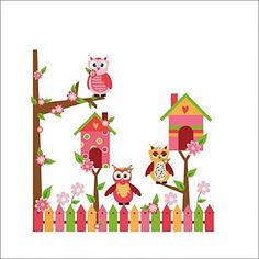 ElecMotive Cute Cartoon Owl Fence Children's Room Wall Stickers for Nursery Bedroom TV Background Living Room Wall Decals Home Decor DIY adesivo de parede (Owls-Tree-Fence) >>> Check out this great image : DIY : Do It Yourself Today Baby Room Wall Decals, Kids Room Wall Art, Wall Decal Sticker, Wall Art Decor, Owl Wallpaper, Wallpaper Decor, Iphone Wallpaper, Stick Wall Art, Vinyl Wall Decals